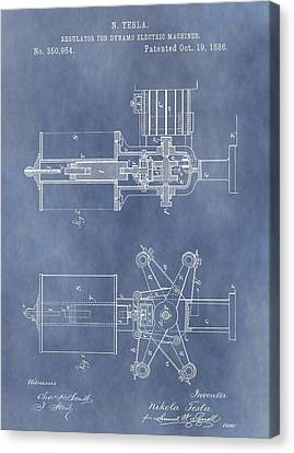 Regulator For Dynamo Electric Machine Patent Canvas Print by Dan Sproul