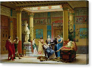 Clarence Canvas Print - Rehearsal Of The Fluteplayer And The Diomedes Wife In The Atrium Of The Pompeian House Of Prince by Gustave Clarence Rodolphe Boulanger