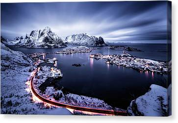 Reine Blue Hour Canvas Print