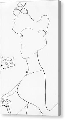 Rejane Canvas Print by Marcel Proust