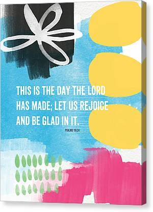 Rejoice And Be Glad- Contemporary Scripture Art Canvas Print