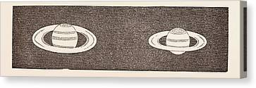 Relative Dimensions Of Saturn, 1858. January 30 Canvas Print by English School