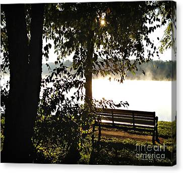 Relax And Enjoy The View Canvas Print by Nancy E Stein