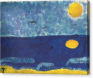 Relax At The Beach Canvas Print by Ashley O'Brien