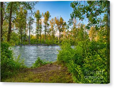 Relax By The Methow Rivers Edge Canvas Print