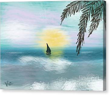 Relaxation Canvas Print by Judy Via-Wolff
