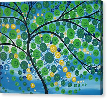 Relaxation Tree Canvas Print by Cathy Jacobs