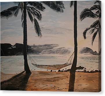Relaxing At The Beach Canvas Print by Ian Donley