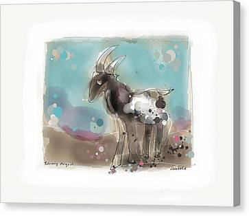 Releasing The Goat Canvas Print by Peter Ciccariello