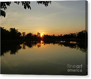 Reflections At Dusk Canvas Print