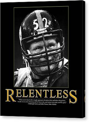 Steelers Canvas Print - Relentless Mike Webster by Retro Images Archive