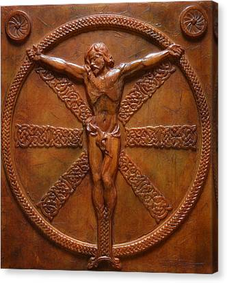 Relic - A Celtic Crucifixion Canvas Print by Jeremiah Welsh