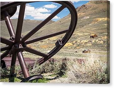 Canvas Print featuring the photograph Relics Of Bodie by Steven Bateson