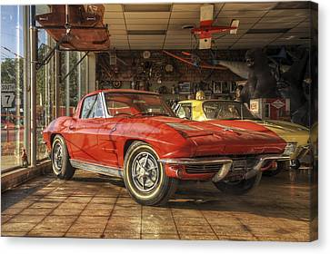 Canvas Print featuring the photograph Relics Of History - Corvette - Elvis - Nehi by Jason Politte