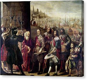 Relief Of Genoa, 1635 Canvas Print by Granger
