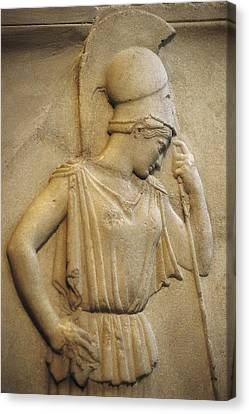 Relief Of The Mourning Athena. 460 Bc Canvas Print by Everett