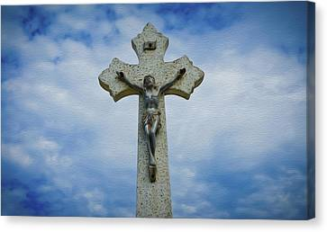 Religious Cross Canvas Print