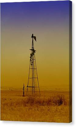 Remains Of An Old Windmill  Canvas Print by Jeff Swan
