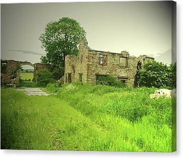 Remains Of Lodge Farm, This Ruin Was Likely Canvas Print