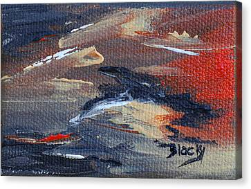 Remains Of The Day Canvas Print by Donna Blackhall