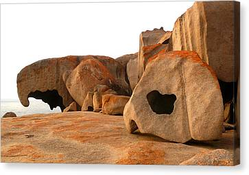 Canvas Print featuring the photograph Remarkable Rocks by Evelyn Tambour