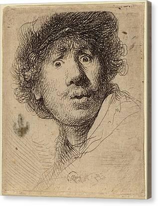 Self-portrait Canvas Print - Rembrandt Van Rijn Dutch, 1606 - 1669, Self-portrait by Quint Lox