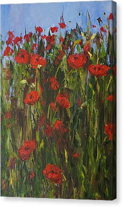 Remeberance Poppies Canvas Print by Jeanette Riley