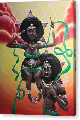 Remember Divinity Canvas Print by Sean Ivy aka Afro Art Ivy