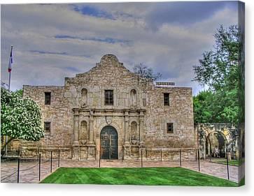 Remember The Alamo Canvas Print by Barry Jones