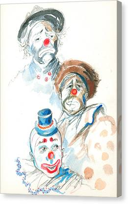 Remember The Clowns Canvas Print by Mary Armstrong