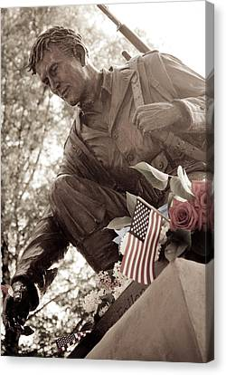 Canvas Print featuring the photograph Remember The Fallen by Chris McKenna
