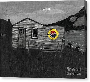 Remember When Old Pepsi Sign 2 Canvas Print by Barbara Griffin