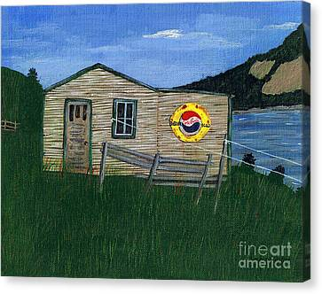 Remember When - Pepsi Canvas Print by Barbara Griffin
