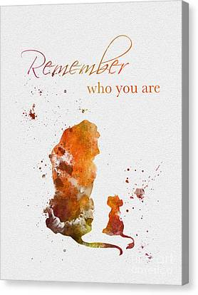 Lions Canvas Print - Remember Who You Are by Rebecca Jenkins