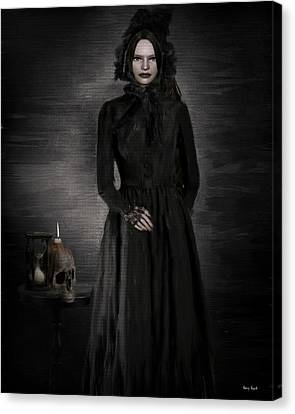 Goth Canvas Print - Remember Your Mortality by Lourry Legarde