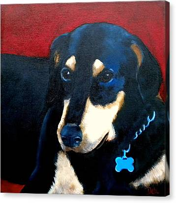 Sweet Touch Canvas Print - Remembering Doby by Debi Starr