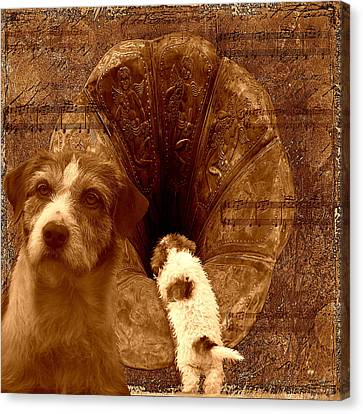 Remembering His Masters Voice Canvas Print by Veronica Ventress