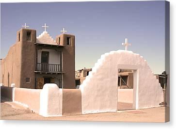 Remembering The Pueblo Canvas Print by Heidi Hermes