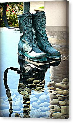 Remembering Those Boots Canvas Print by Ingrid Zagers