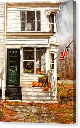 Remembering When- Porches Art Canvas Print by Lourry Legarde