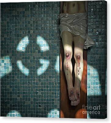 Canvas Print featuring the photograph Remembrance Inri by Michel Verhoef