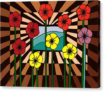 Remembrance Poppy Canvas Print by Barbara St Jean