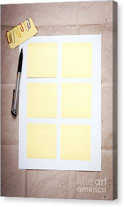 Reminder Notes Canvas Print by Tim Hester