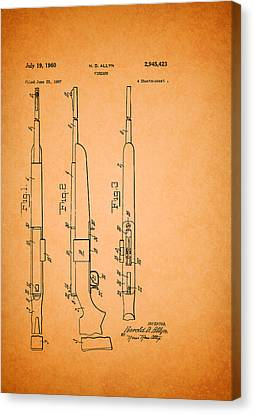Remington Canvas Print - Remington Firearm Patent 1960 by Mountain Dreams