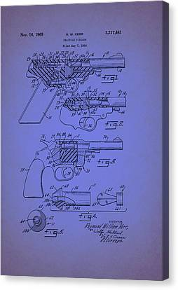 Remington Canvas Print - Remington Practice Pistol Patent 1965 by Mountain Dreams