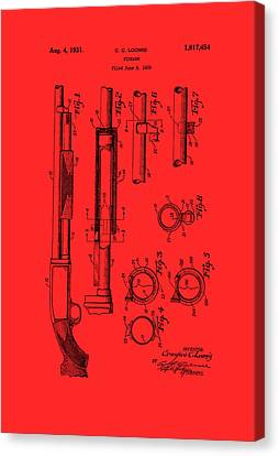 Remington Canvas Print - Remington Rifle Patent 1929 by Mountain Dreams
