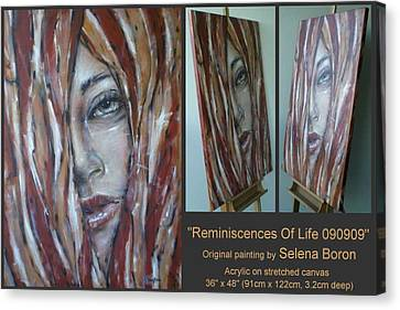 Canvas Print featuring the painting Reminiscences Of Life 090909 by Selena Boron