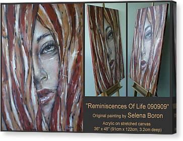 Reminiscences Of Life 090909 Canvas Print by Selena Boron