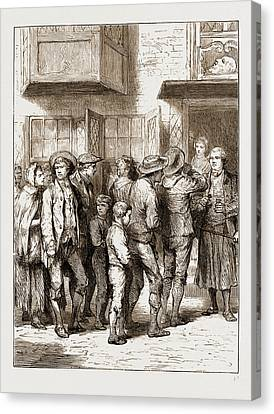 Reminiscences Of Old Bow Street Police Court Canvas Print by Litz Collection