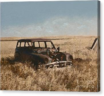 Remnants Of Lives Past Canvas Print by Michael Malicoat